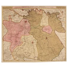 17th Century Antique map of Braban and the surrounding Area - Belgium/Holland - by Visscher N. II (1695)