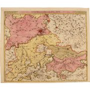 17th Century Antique map of the Liege region of Belgium - by Visscher N. II (1690)