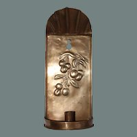"""19th Century Belle Epoque Brass Candle Holder """"Cherry"""" from Continental Europe"""