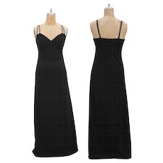 1970s Vintage Black Maxi Dress