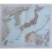 Art Nouveau Map of Japan, Korea, Taiwan, East China and More (Stieler 1902)