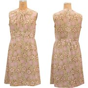 1960s Vintage Flower Day Dress