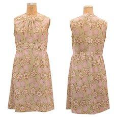 1960s Vintage Flower Day Dress
