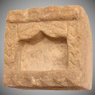 Antique Indian / Hinduism Shrine - Yellow Sandstone / Limestone carved Altar