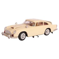 Rare JAMES BOND 007 Aston Martin DB5  - Tan GAMA Wind-Up Car with Secret Agent Features