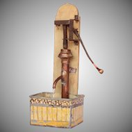 1900's Functioning Doll Hand Pump - Brass, Copper, Tin, Wrought Iron 1:6 Scale
