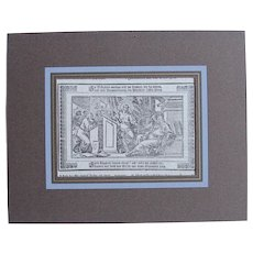 18th Century Copper Engravings of Jesus at the Temple (Luke 2:42-51) from a Martin Luther Bible