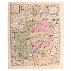 17th Century Map of Bavaria - Germany (Nicolaum Visscher)