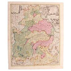 17th Century Map of Bavaria - Germany (Nicolaum Visscher)