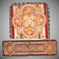 19th Century Needlepoint & Embroidered Decoration for Chasuble Vestment