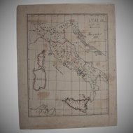 Original Antique Map of Italy - Hand Drawn by German Artist Edmund Koerner (circa 1910)