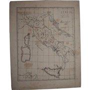 Original Antique Map of Italy - Hand Drawn by German Artist Edmund Koerner (circa 1910)