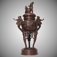 19th Century Japanese Bronze Censer / Koro / Incense Burner from Japan - Meiji Era