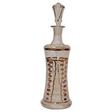 Antique Hand Painted Gilt Liquor Bottle