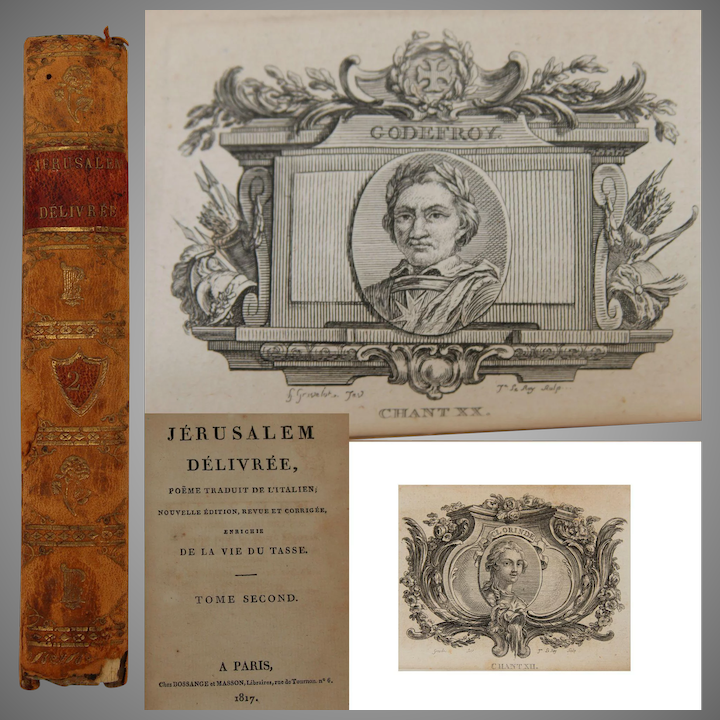 1817 French Book With Many Copper Engravings Jerusalem Delivree