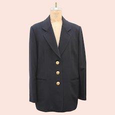 Christian Dior Boutique Paris Black Cashmere Ladies Jacket Blazer
