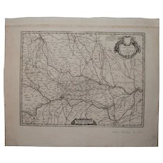 17th Century Map showing Province of Cremona in Italy by Pierre Mortier 1690