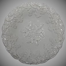 19th Century Meissen Porcelain Oak leaf Cluster Pomp Relief Plate / Ceremonial Plate