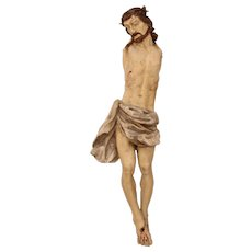 18th Century LARGE Baroque Statue of the Lord Jesus Christ 37 Inch (Wood - Germany)