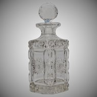 Early 20th Century French Lead Crystal Liquor / Spirit Bottle