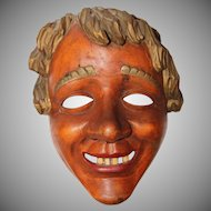 "Rare Carnival / Fasching Mask ""Der Mittwocher"" from Stauffen Germany"