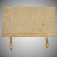 18th Century Important Sealed Deed Manuscript from two later mayors of Amsterdam