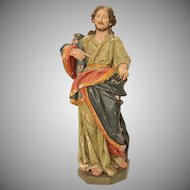 17th Century LARGE Baroque Statue of the Lord Jesus Christ 32 Inch (Wood - Italy)