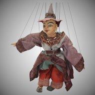 Vintage 1920s Burmese Hand Carved Wood Marionette