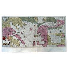Nautical Map / Sea Chart of the Aegean Sea (Keulen circa 1680)