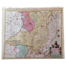 Antique map of Italy - Emilia-Romagna (Parma, Modena, Bologna) (P.Mortier 1700)