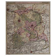 17th Century Antique map of then Vicinity of Leuven and Aarschot - Belgium - by Visscher N. II (1680)