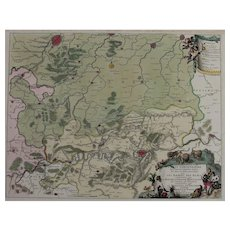 17th Century Antique map of the battle of Namur, Belgium - by Visscher N. (1695)