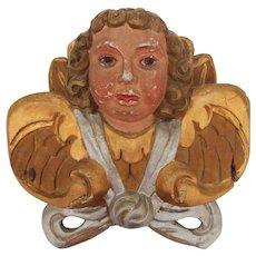Baroque Putti / Angel / Cherub 18th Century - Wood carved