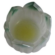 "Westmoreland ""Lotus"" Cased Glass Open Salt Cellar"