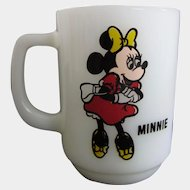 Minnie Mouse Pepsi Collector Series Milk Glass Mug