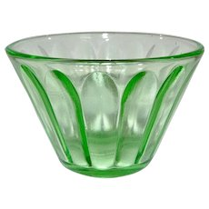 Green Depression Glass Jello Custard Nut Cup Dish several available