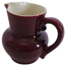 "Red Wing Art Pottery Mulberry 4"" Creamer Pitcher"