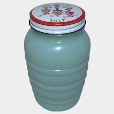 Anchor Hocking Fire-King Jadeite Glass Tulip Range Salt Shaker