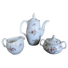 Adderley English Bone China Fragrance Teapot Creamer Sugar Bowl