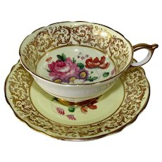 Paragon Pink Rose Summer Floral English Bone China Teacup & Saucer