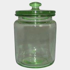 Hocking Green Depression Glass 8 oz. Kitchen Hoosier Jar