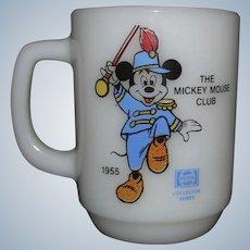 Mickey Mouse Collector Series Milk Glass Mug