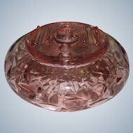Rose Pink Central Glass Co.  2-Part Smoker's Ashtray Frances Line 1930s
