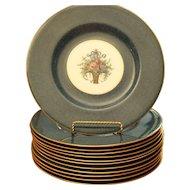 "Royal Worcester - 1918-1919, 12 Dinner Plates - 10-1/5"""