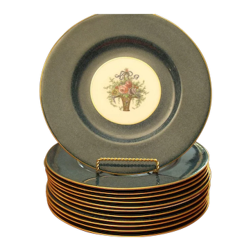 Royal Worcester - 1918-1919, 12 Dinner Plates - 10-1/5""
