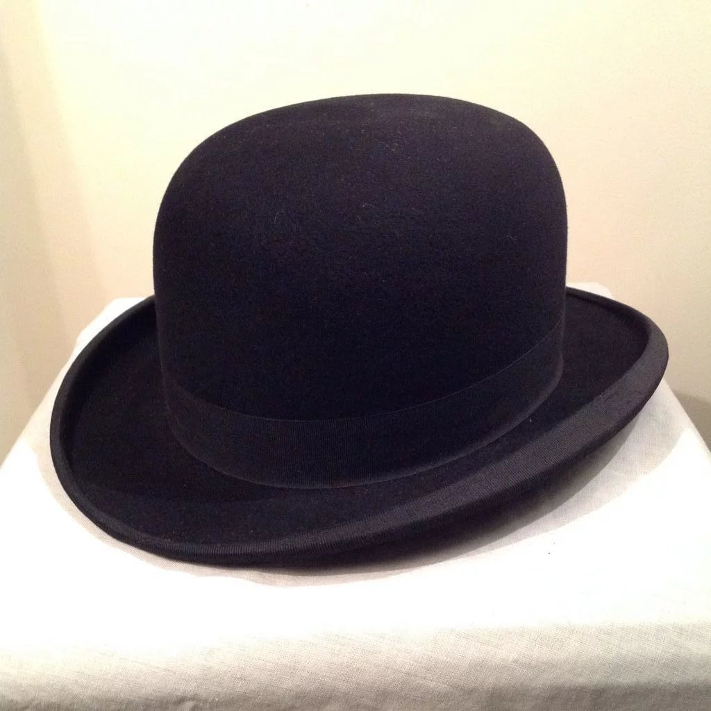 Rare Vintage Bowler Derby Hat By Beaver And Son Of