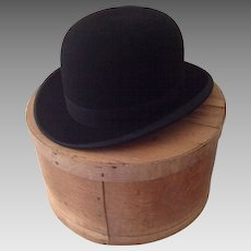 Rare Vintage Bowler (Derby) Hat by Beaver and Son of London