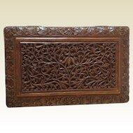 Antiques Sandalwood Carved Box. C.1910