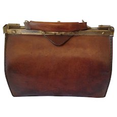 French Vintage Gladstone/Doctors bag C1920