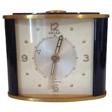 Small Vintage Jaeger Alarm Clock 1950's. Working